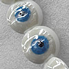 Turkish Handmade Lampwork Glass Evil Eye Beads, Flat Round 28mm Hole: About 1.5mm, Sold by PC