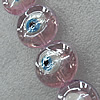 Turkish Handmade Lampwork Glass Evil Eye Beads, Flat Round 20mm Hole: About 1.5mm, Sold by PC