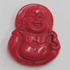 Coral Pendants, Buddha 28x23mm Hole:0.1mm, Sold by PC