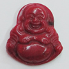 Coral Pendants, Buddha 24x21mm Hole:0.1mm, Sold by PC