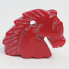 Coral Pendants, Horse Head 26x21mm Hole:1mm, Sold by PC