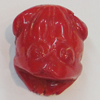 Coral Beads, Frog 29x36mm Hole:2mm, Sold by PC