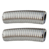 Jewelry findings, CCB plastic European style Beads platina plated, 34x10mm Hole:4.5mm, Sold by Bag