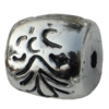 Jewelry findings, CCB plastic European style Beads platina plated, Drum 18x19mm Hole:4mm, Sold by Bag