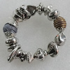 CCB Bracelet, Bead Size:12mm-18mm, Length:7.9 Inch, Sold By Group