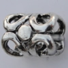 Copper European Style Beads Jewelry Findings Lead-free, 10x7mm Hole:5mm Sold by Bag