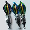 Lampwork Glass Bottle Stopper, Leaf, 115x42mm, Sold by PC