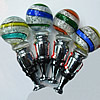 Lampwork Glass Bottle Stopper, Round 90x35mm, Sold by PC