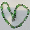 Cats Eye Necklace, Twist Faceted Oval 9x20mm Length:About 16-inch, Sold by Strand