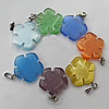 Cats Eye Pendant/Charm, Mix Color, Flower 17mm, Hole:About 1MM, Sold by PC