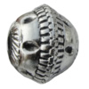 Jewelry findings, CCB plastic European style Beads Antique silver, 20x16mm Hole:4mm, Sold by Bag