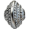 Jewelry findings, CCB plastic European style Beads Antique silver, 15x20mm Hole:4mm, Sold by Bag