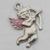 Pendant Zinc Alloy Enamel Jewelry Findings Lead-free, 23x16mm Hole:2mm, Sold by Bag