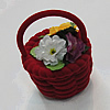 Jewelry Box for Rings, Flower Basket 70x49mm, Sold by Box