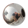 Jewelry findings, CCB plastic European style Beads  platina plated, 30x26mm Hole:11mm, Sold by Bag