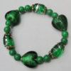 Lampwork & Glass Bracelet, 8-Inch, Bead Size:6mm-22mm, Sold by Group
