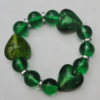 Lampwork & Acrylic Bracelet, 8-Inch, Bead Size:10mm-22mm, Sold by Group
