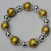 Acrylic & CCB Bracelet, 8-Inch, Bead Size:14mm-6mm, Sold by Group