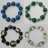 Lampwork & Glass Bracelet, 8-Inch Mix color Mix style, Bead Size:12mm-20mm, Sold by Group