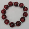 Semiprecious stone Bracelet, 8-Inch, Bead Size:14mm, Sold by Group