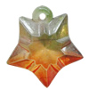 Dichroic Plastic Pendants, Star 24x22mm Hole:2mm, Sold by Bag