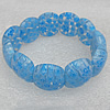 Millefiori Lampwork Glass Bracelet, 18x22mm Length:About 19mm, Sold by Strand