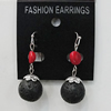 Coral Earring, Length:47mm Bead Size:16mm, Sold by Group