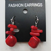 Coral Earring, Length:38mm Bead Size:13mm, Sold by Group
