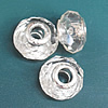 Crystal European Beads, with silver Color Copper Core, Faceted Rondelle 14x9mm Hole:About 4.5mm, Sold by PC