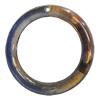 Dichroic Plastic Beads, Donut Outside diameter:25mm, Inside diameter:18mm, Sold by Bag