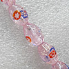 Luminous Lampwork Beads, Oval 11x16mm Hole:About 1.5mm, Sold by PC