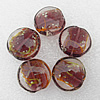 Luminous Lampwork Beads, Flat Round 20x10mm Hole:About 2mm, Sold by PC