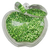 Acrylic Pendant With Colorful Powder, Apple 51x47mm Hole:2.5mm, Sold by Bag