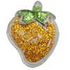 Acrylic Pendant With Colorful Powder, Strawberry 59x47mm Hole:2.5mm, Sold by Bag