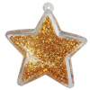 Acrylic Pendant With Colorful Powder, Star 61x56mm Hole:2mm, Sold by Bag