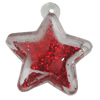 Acrylic Pendant With Colorful Powder, Star 29x26mm Hole:1.5mm, Sold by Bag