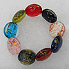 Luminous Lampwork Beads Bracelets, Bead Size:20mm Length:7.8 Inch, Sold by Strand