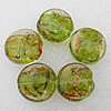 Luminous Lampwork Beads, Flat Round 28x13mm Hole:About 2mm, Sold by PC