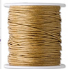 Cotton Wax Cord, 1.5mm, Length:100 Yard, Sold by PC