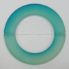 Dichroice Matte Acrylic Beads, Donut 54x35mm Hole:2.5mm, Sold by Bag