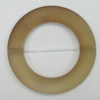 Dichroice Matte Acrylic Beads, Donut 45x28mm Hole:2.5mm, Sold by Bag