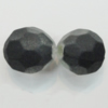 Dichroice Matte Acrylic Beads, Faceted Round 13mm Hole:2.5mm, Sold by Bag
