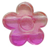 Dichroic Plastic Beads, Flower 20mm Hole:1mm, Sold by Bag