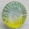 Dichroic Plastic Beads, Fluted Rondelle 22mm Hole:2mm, Sold by Bag