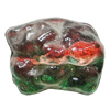 Dichroic Plastic Beads, 25x21mm Hole:1mm, Sold by Bag