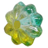 Dichroic Plastic Beads, Flower 6mm Hole:0.2mm, Sold by Bag
