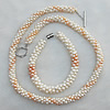 Pearl Necklace and Pearl Bracelet,Necklace Length:About 14.96 Inch Bracelet Length:About 7.87 Inch, Sold by Set