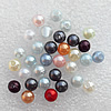 Imitation Pearl Acrylic beads,jewelry finding beads, Mix Color Round 6mm, Sold by Bag