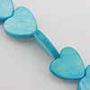 Natural Shell Beads, Heart 13x3mm Hole:About 1mm, Sold by 16-inch Strand