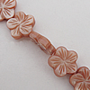 Natural Shell Beads, Flower 15x4mm Hole:About 1mm, Sold by 16-inch Strand